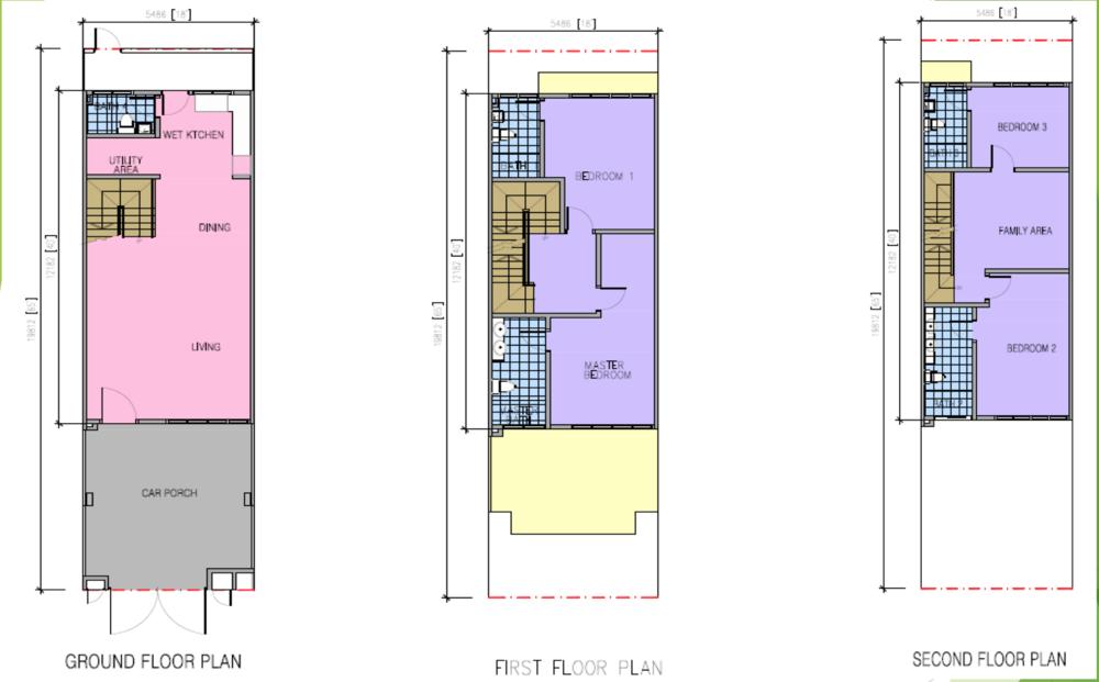 Kazen @ Taman Saujana Puchong Type E Floor Plan