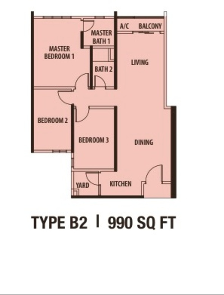 Danau Kota Suite Apartments Type B2 Floor Plan