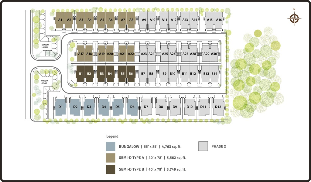 Site Plan of Lambaian Residence