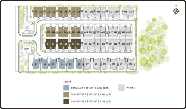 Site Plan of Lambaian Residence
