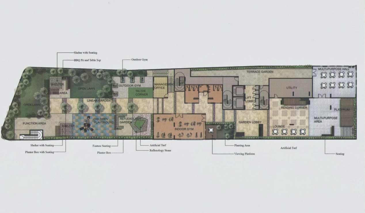 Site Plan of The H2O