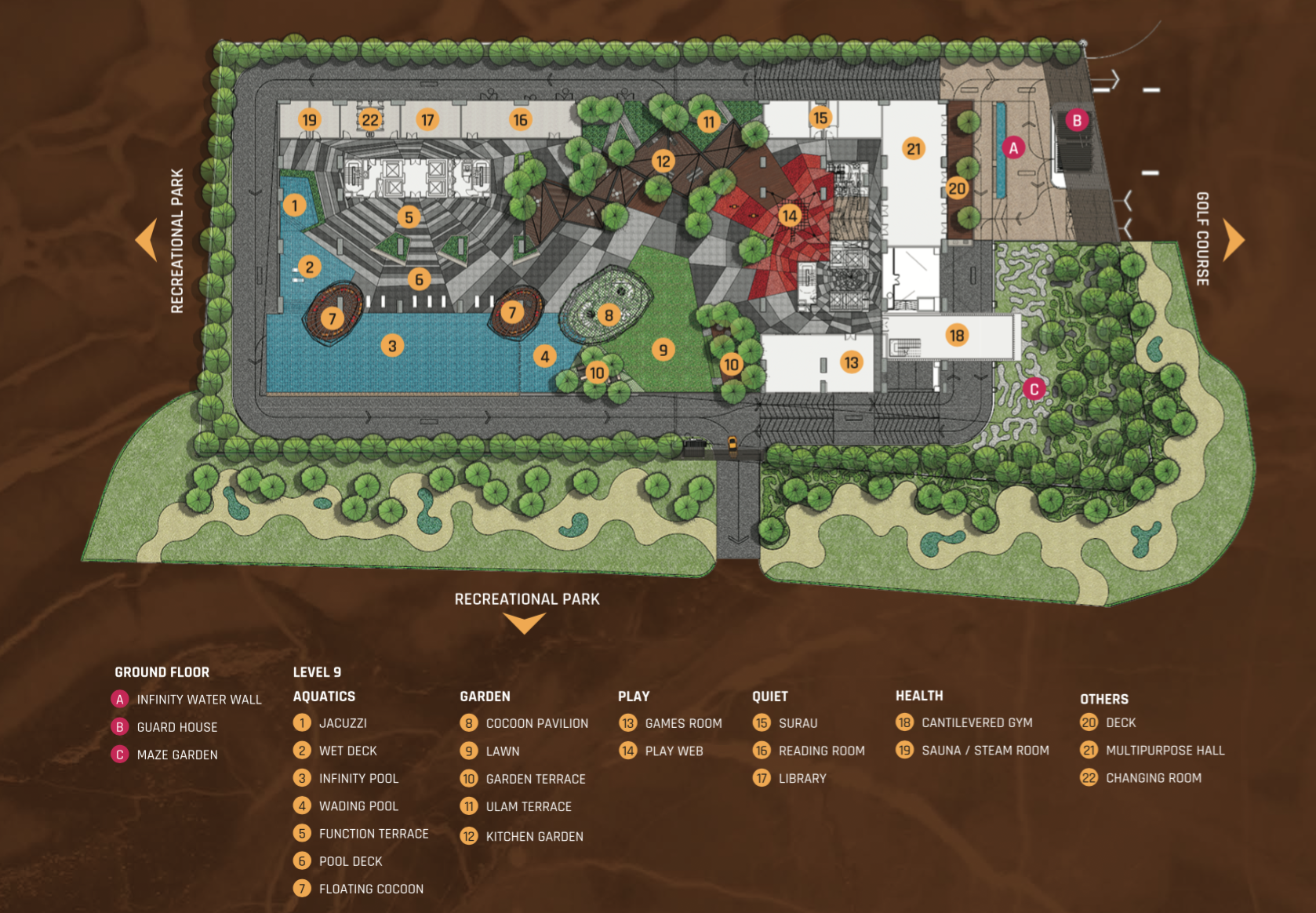 Site Plan of SkyLuxe On The Park