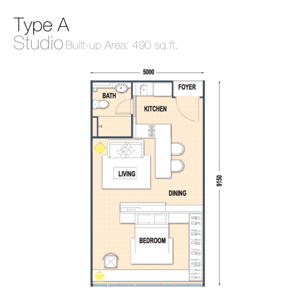 Austin Regency Type A Floor Plan