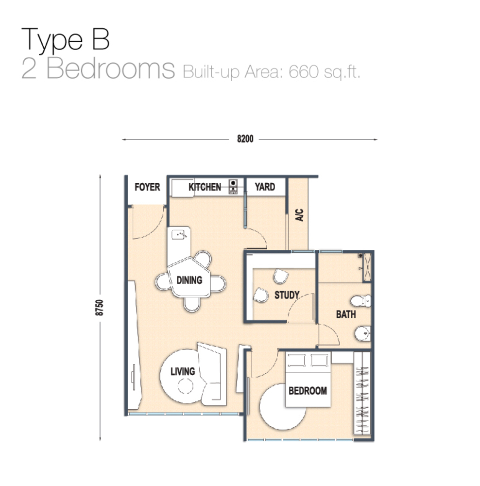 Austin Regency Type B Floor Plan