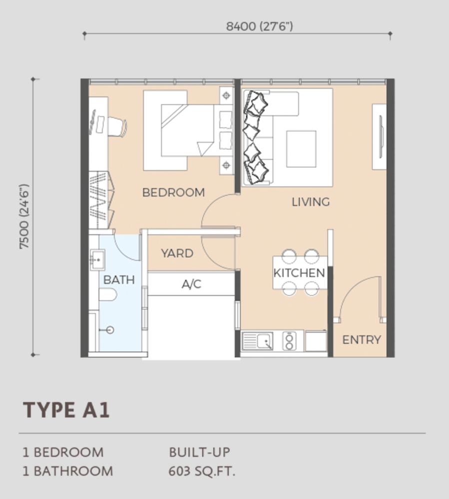 Oasis Rio Type A1  Floor Plan