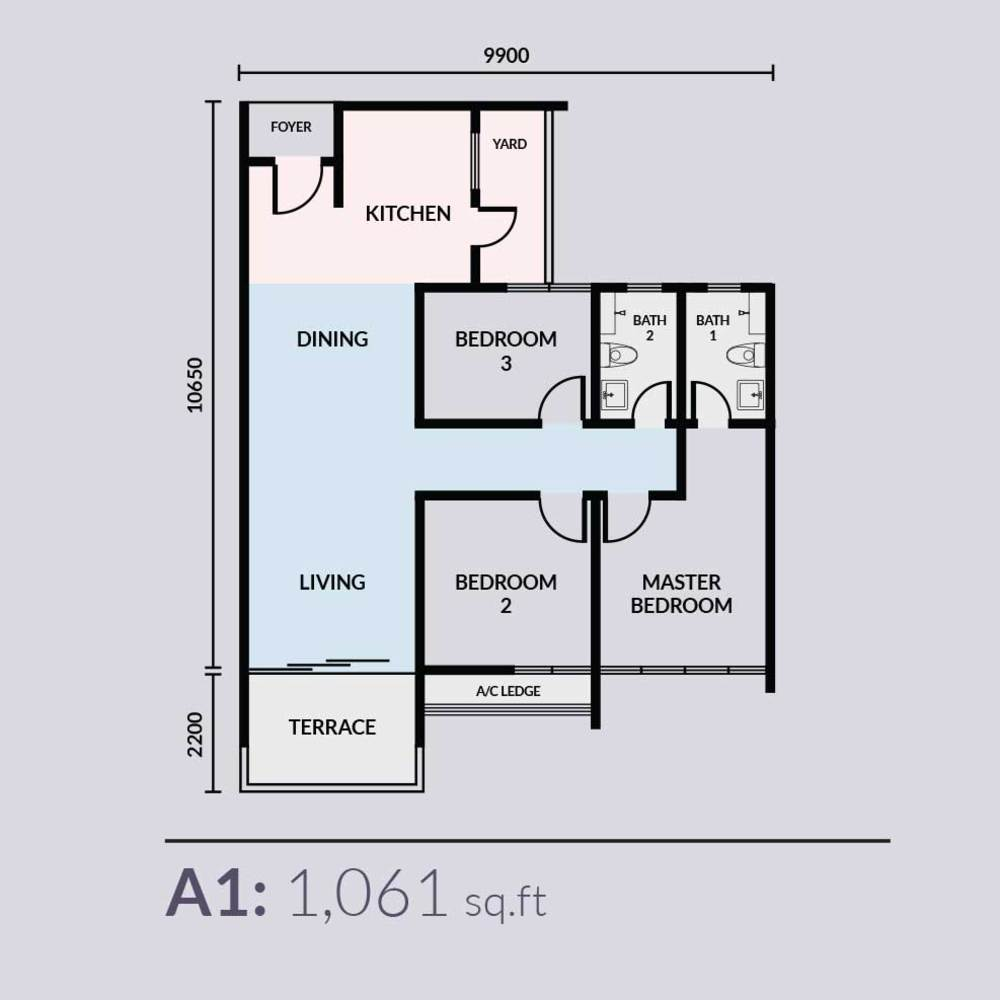 Skyvilla @ D'Island Type A1 Floor Plan