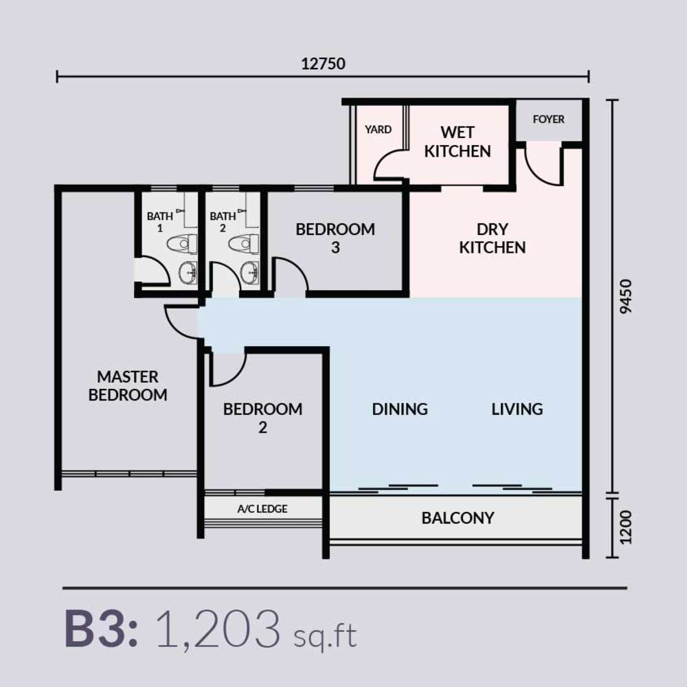 Skyvilla @ D'Island Type B3 Floor Plan