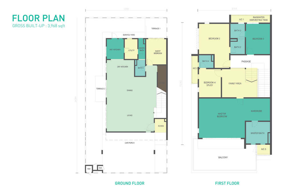Corallia @ D'Island Typical Unit Floor Plan