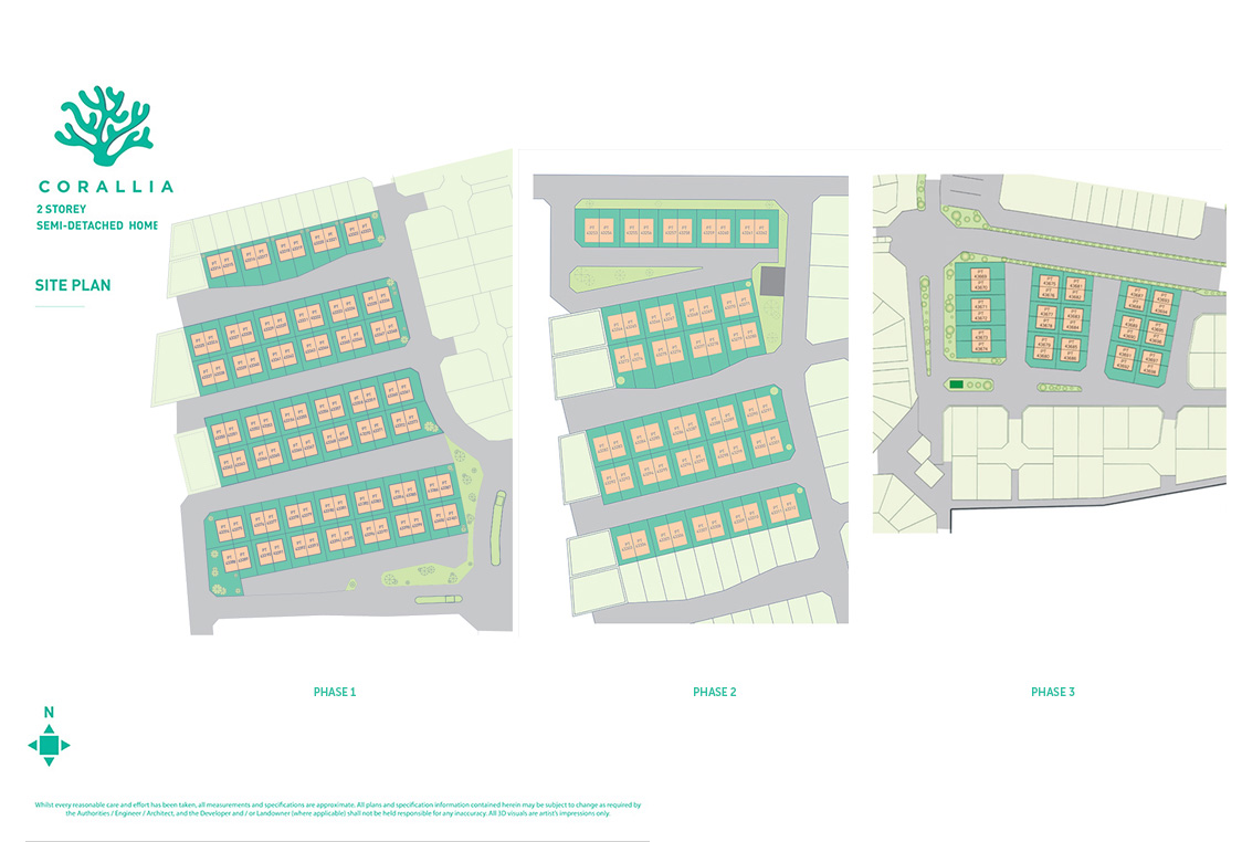 Site Plan of Corallia @ D'Island