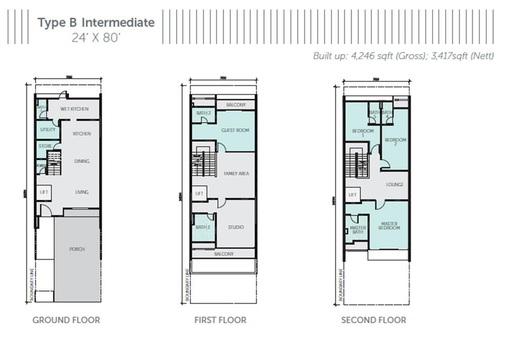 Nautilus @ D'Island Phase 1 - Type B Intermediate Floor Plan