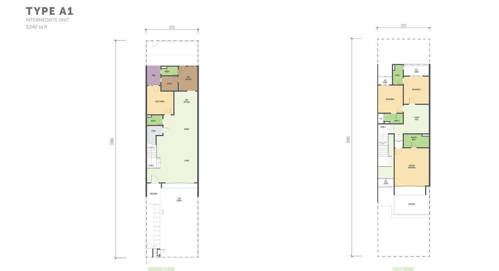 Nautilus @ D'Island Phase 2 - Type A1 Floor Plan