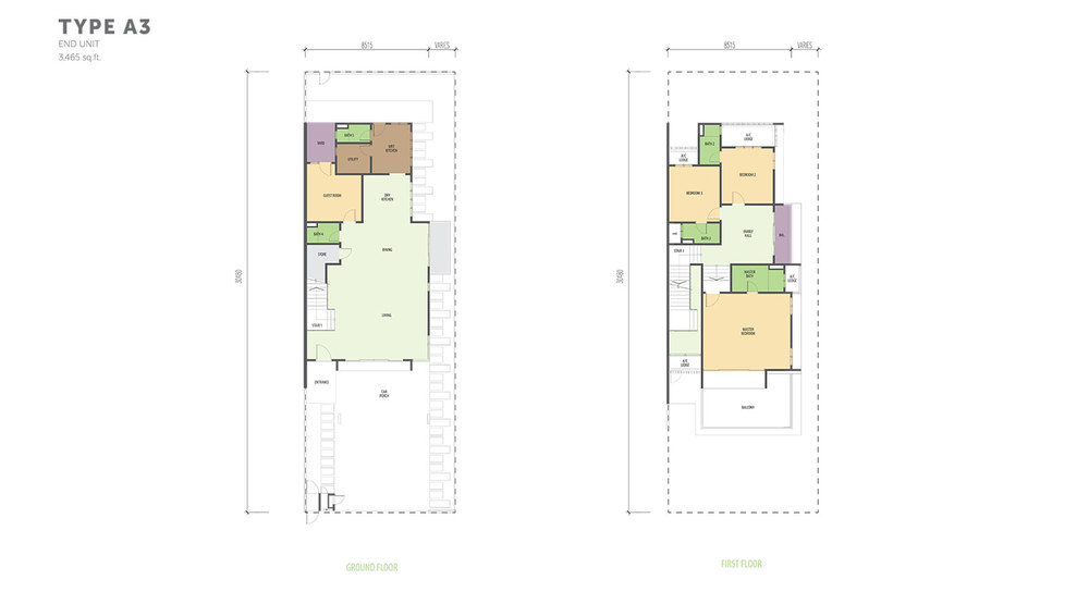 Nautilus @ D'Island Phase 2 - Type A3 Floor Plan