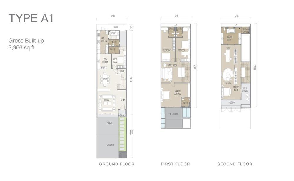 Apicalia @ D'Island Type A1 Floor Plan