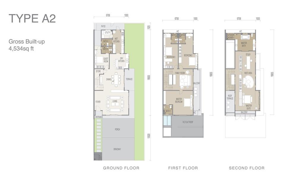 Apicalia @ D'Island Type A2 Floor Plan
