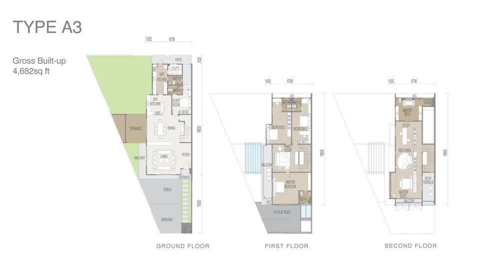 Apicalia @ D'Island Type A3 Floor Plan
