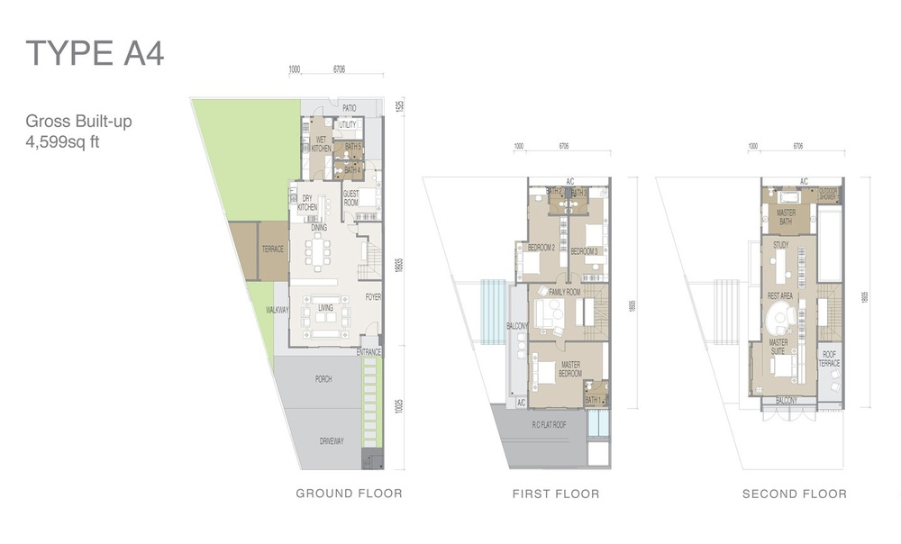 Apicalia @ D'Island Type A4 Floor Plan
