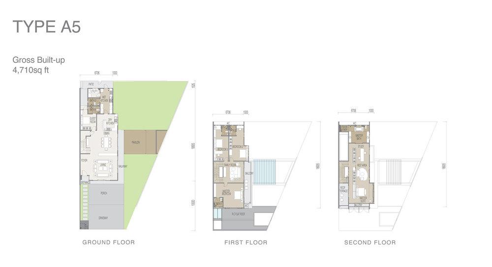 Apicalia @ D'Island Type A5 Floor Plan