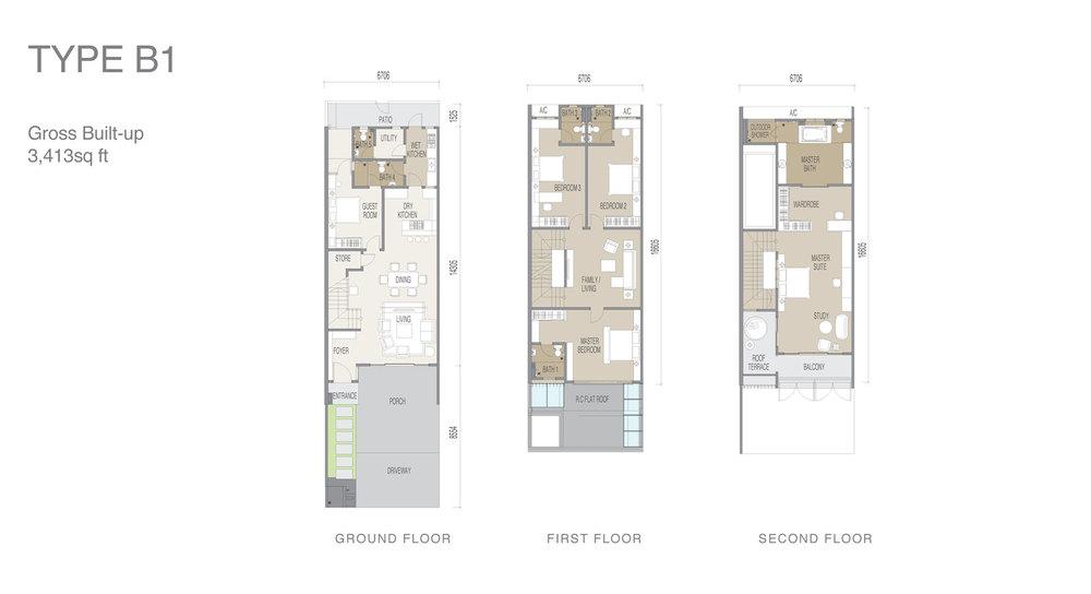 Apicalia @ D'Island Type B1 Floor Plan
