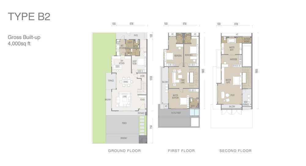 Apicalia @ D'Island Type B2 Floor Plan