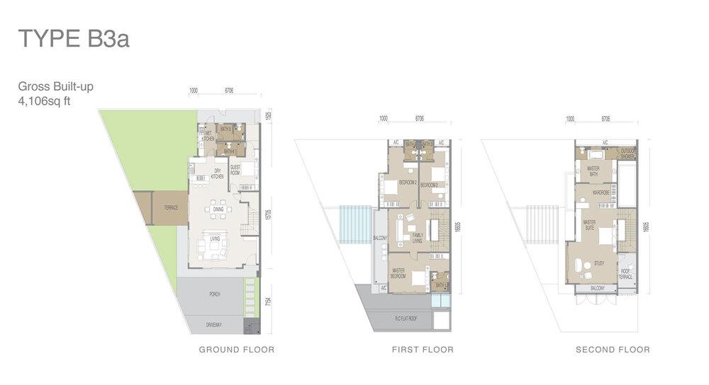 Apicalia @ D'Island Type B3a Floor Plan