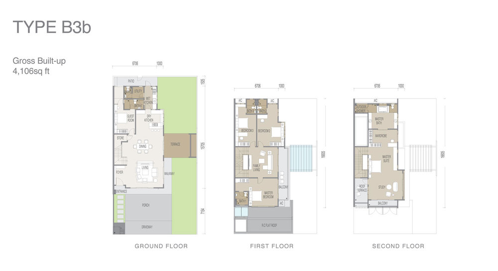 Apicalia @ D'Island Type B3b Floor Plan