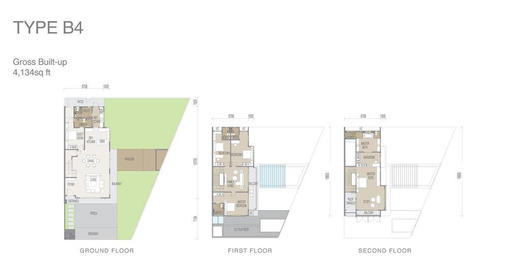 Apicalia @ D'Island Type B4 Floor Plan