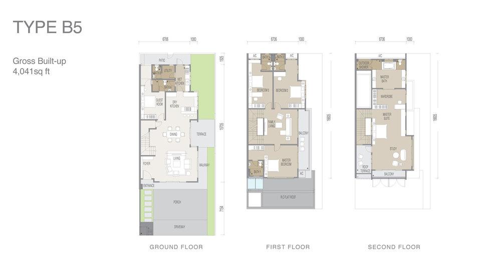 Apicalia @ D'Island Type B5 Floor Plan