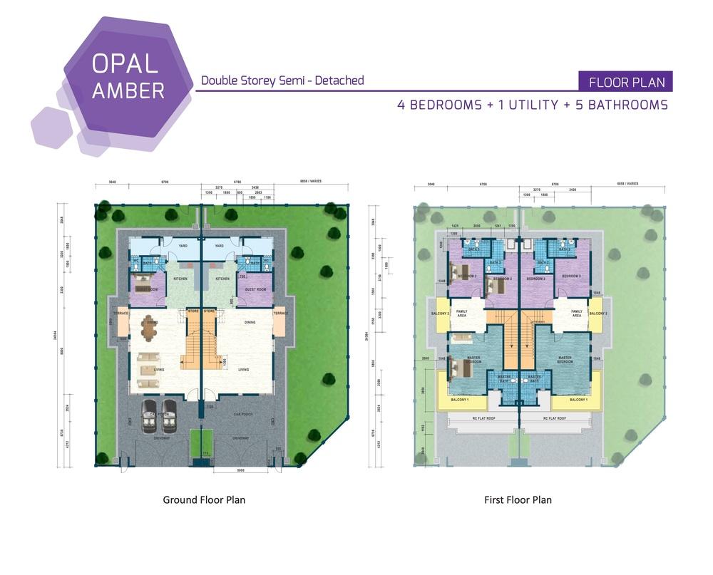 Opal Residenz Amber Floor Plan