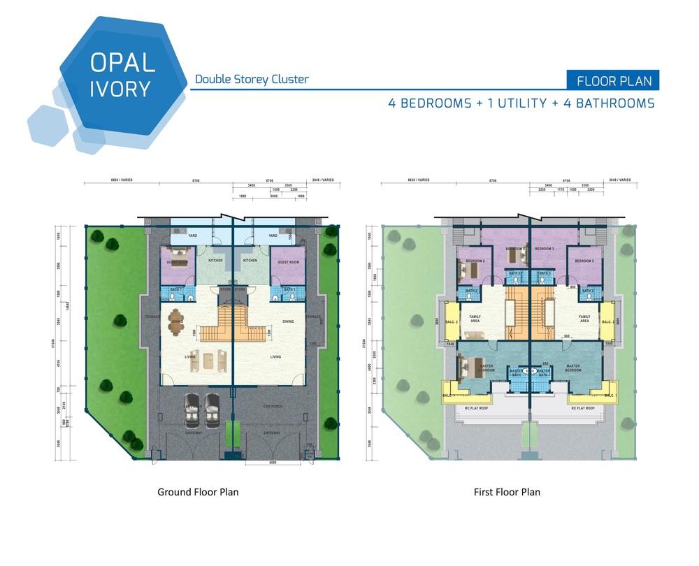 Opal Residenz Ivory Floor Plan