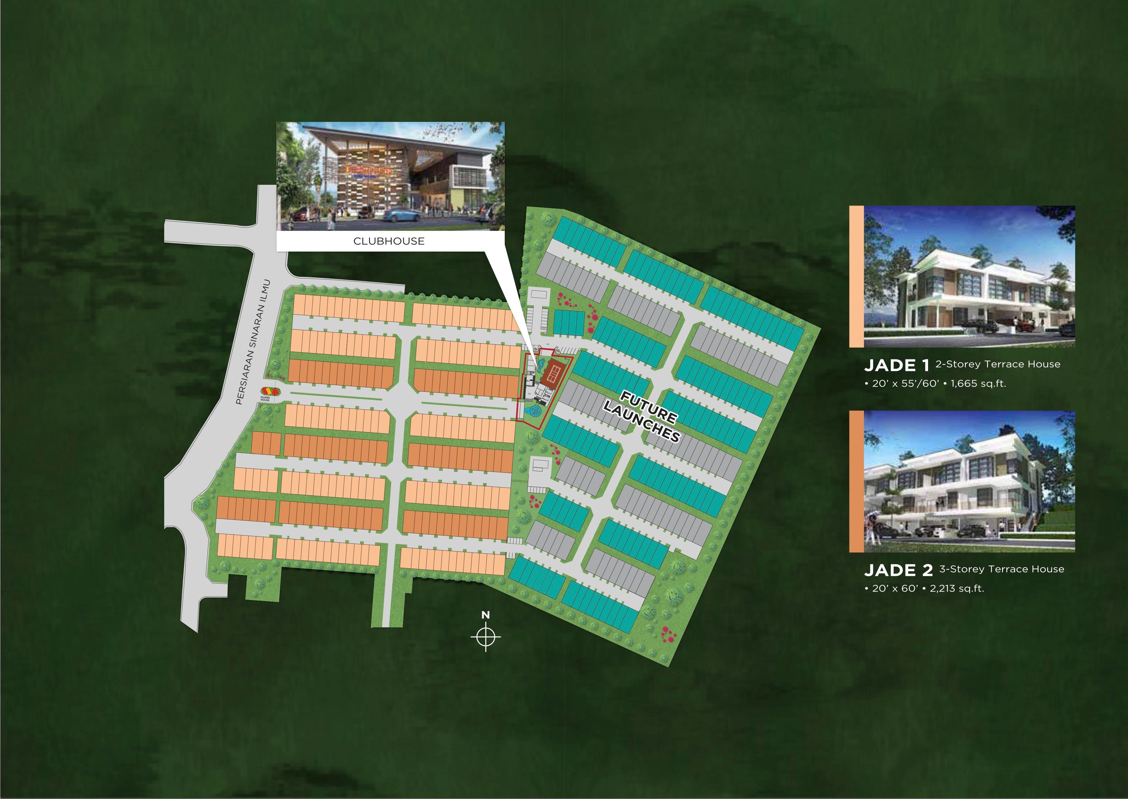 Site Plan of Imperial Jade