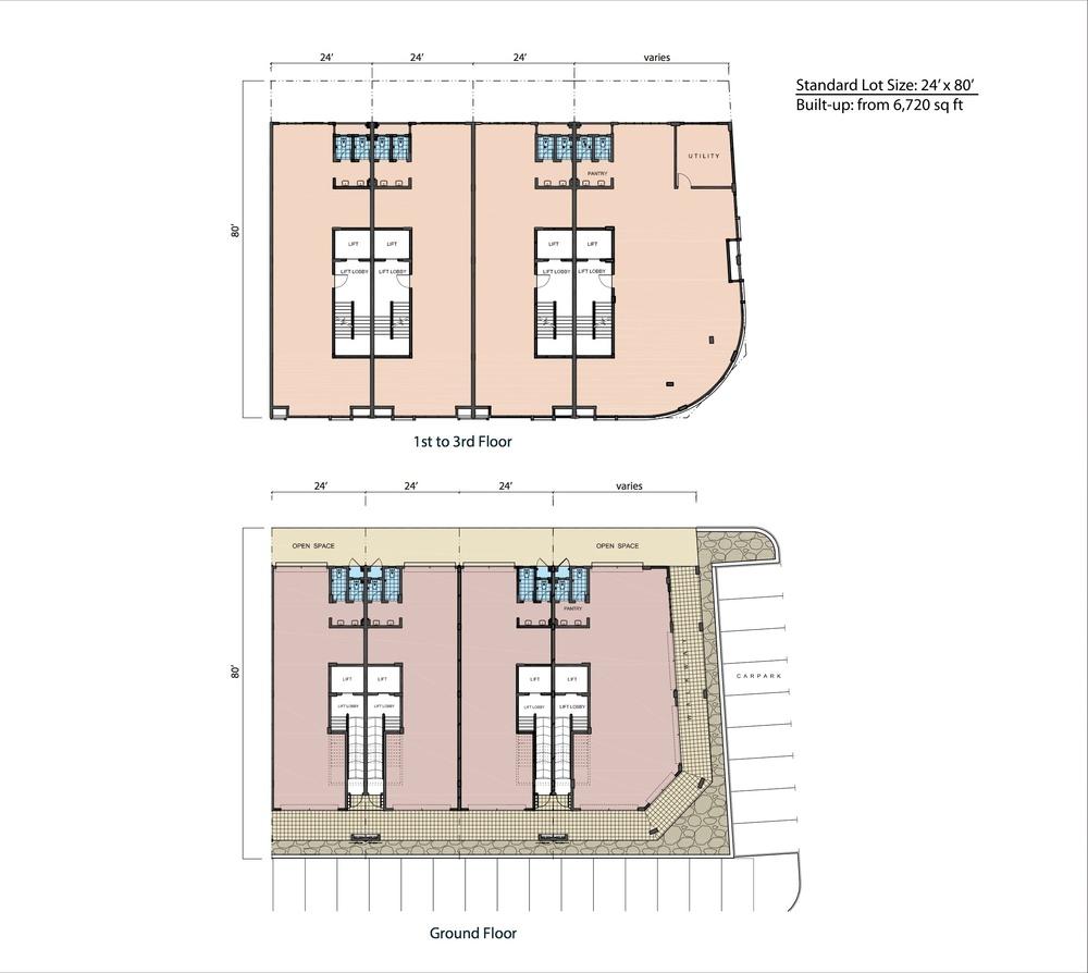 Fortuna Hub Premier Standard Unit Floor Plan