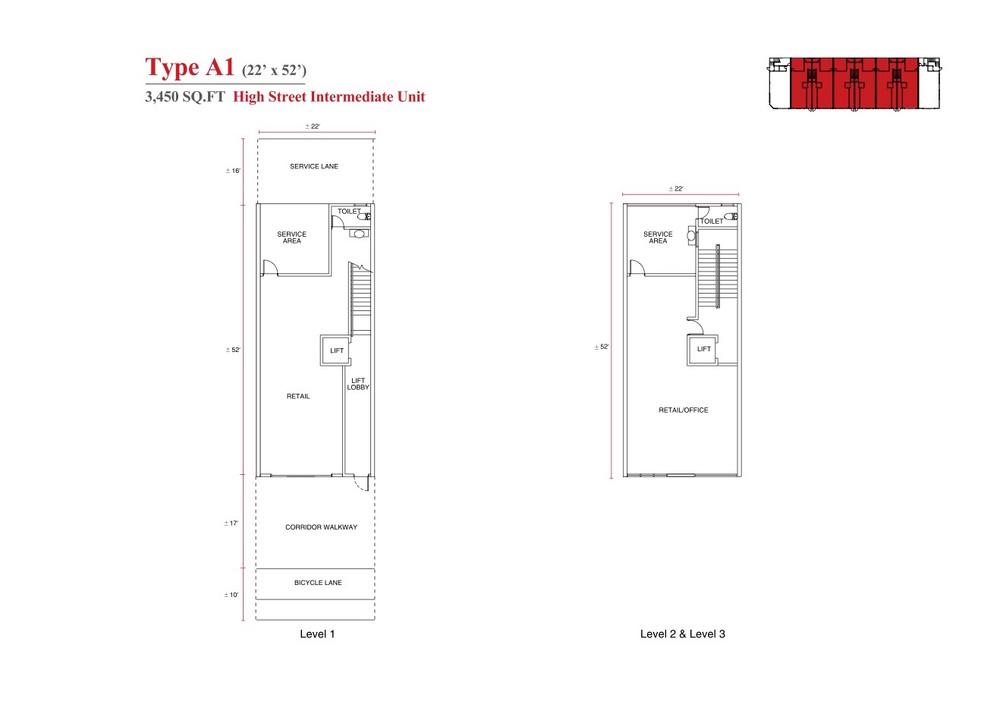 Aspen Vision City Vervea - Type A1 Floor Plan