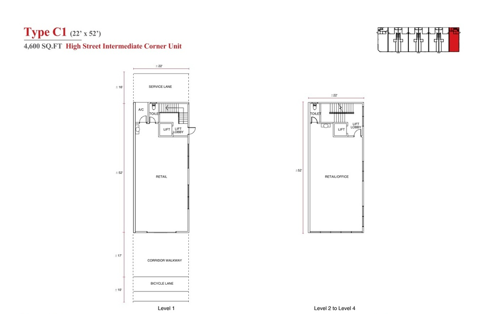 Aspen Vision City Vervea - Type C1 Floor Plan