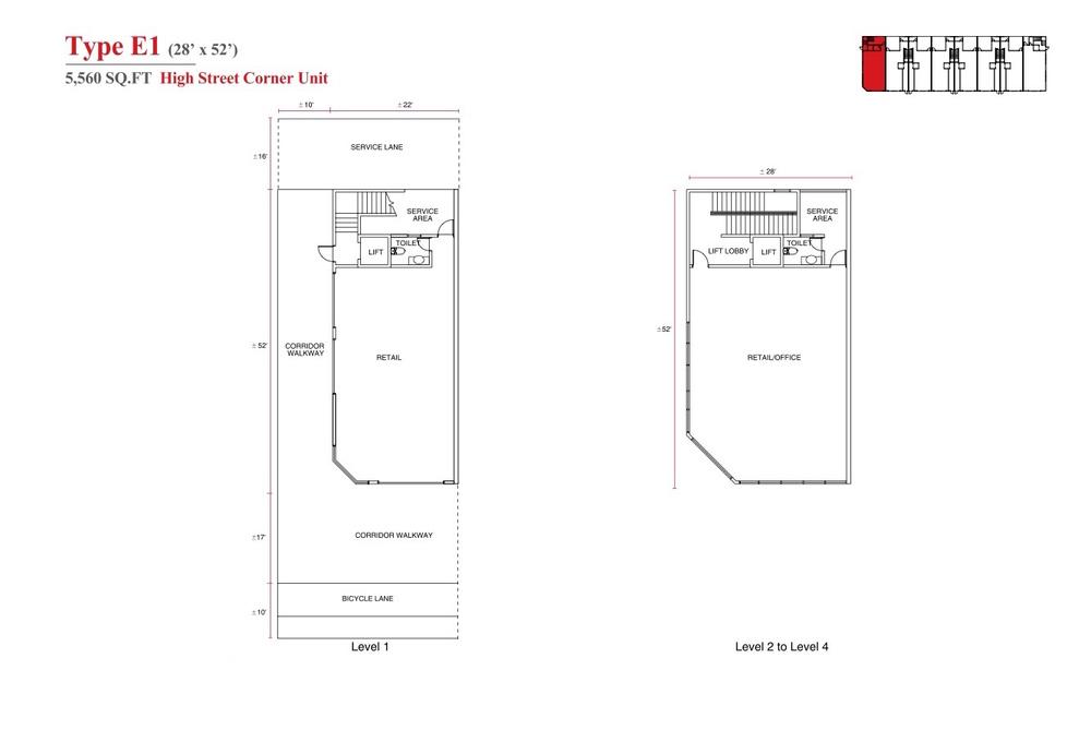 Aspen Vision City Vervea - Type E1 Floor Plan