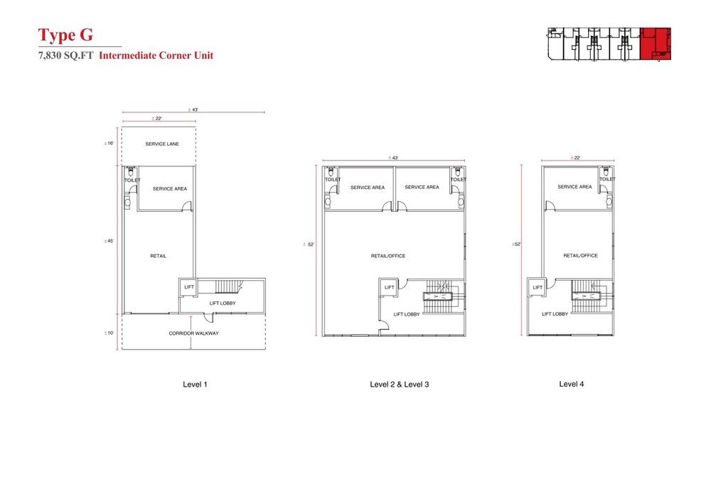 Aspen Vision City Vervea - Type G Floor Plan