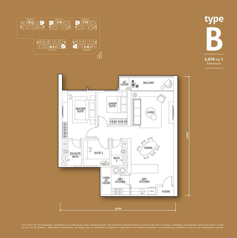Aspen Vision City Vertu Resort - Type B Floor Plan