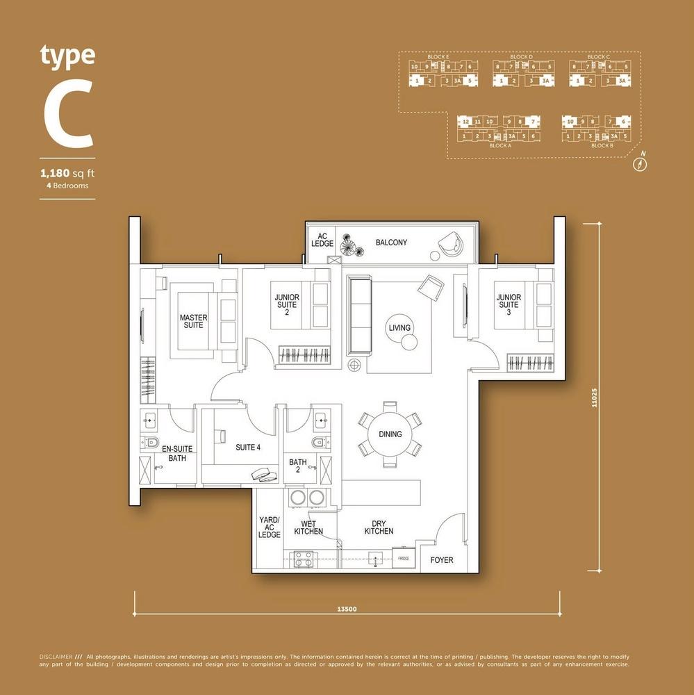Aspen Vision City Vertu Resort - Type C Floor Plan