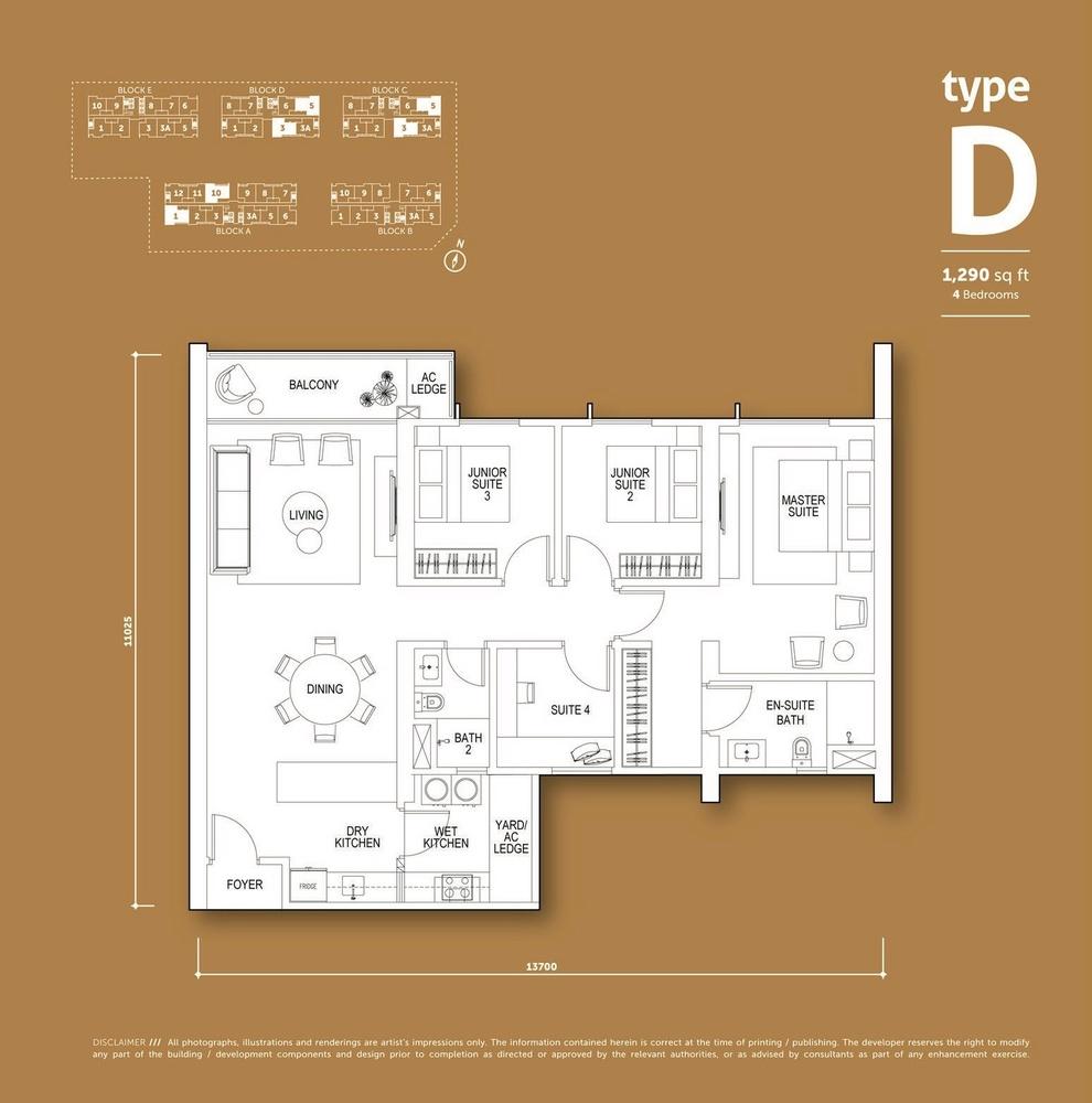 Aspen Vision City Vertu Resort - Type D Floor Plan