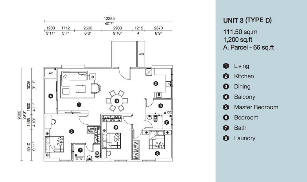 Artis 3 Block B - Type D Floor Plan