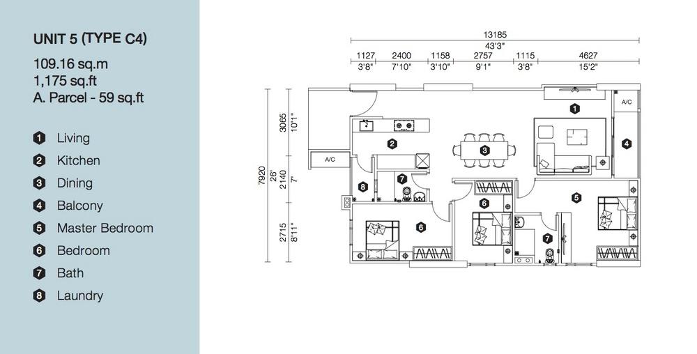 Artis 3 Block B - Type C4 Floor Plan
