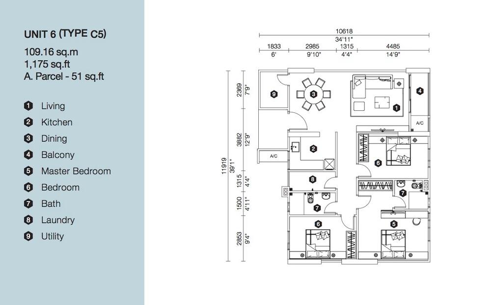 Artis 3 Block B - Type C5 Floor Plan