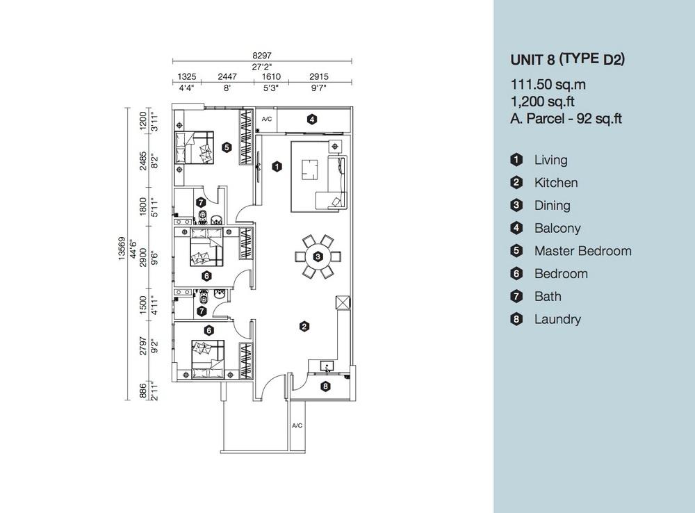 Artis 3 Block B - Type D2 Floor Plan