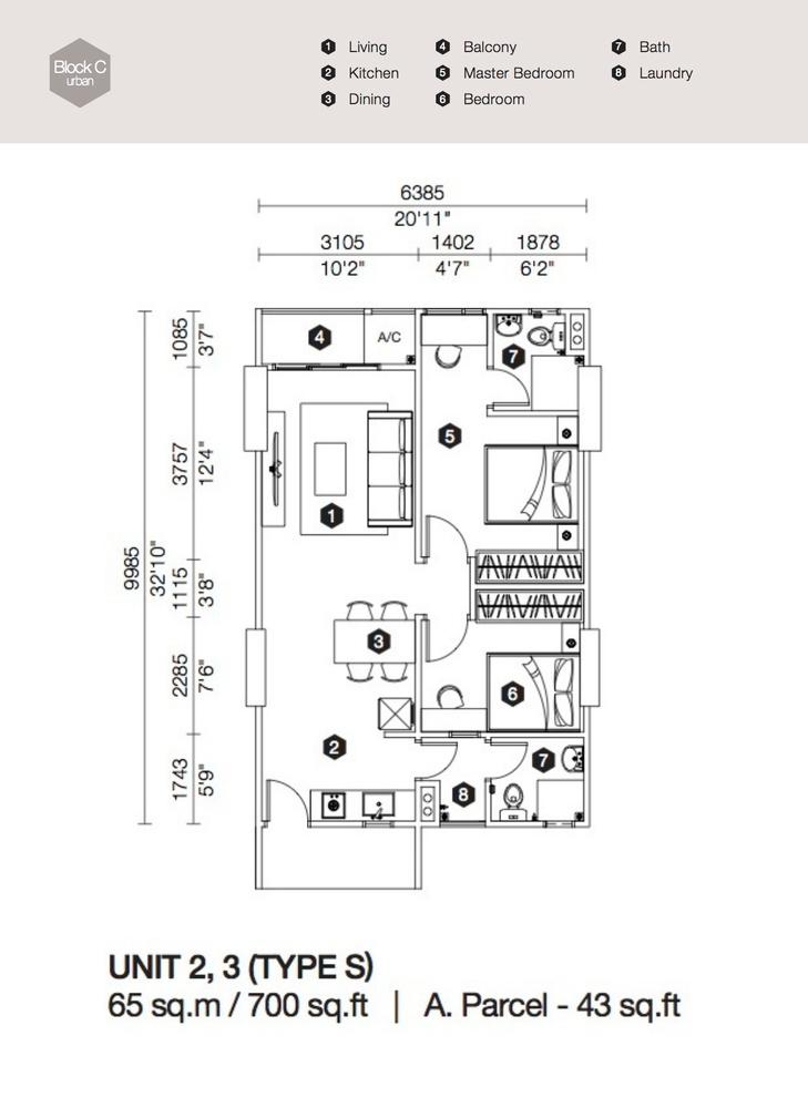 Artis 3 Block C - Type S Floor Plan