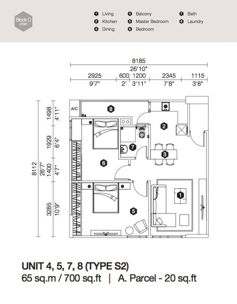Artis 3 Block C - Type S2 Floor Plan
