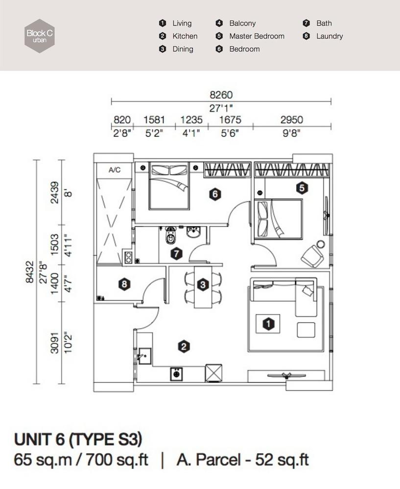 Artis 3 Block C - Type S3 Floor Plan
