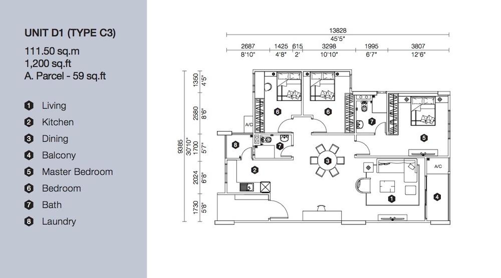 Artis 3 Block D - Type C3 Floor Plan
