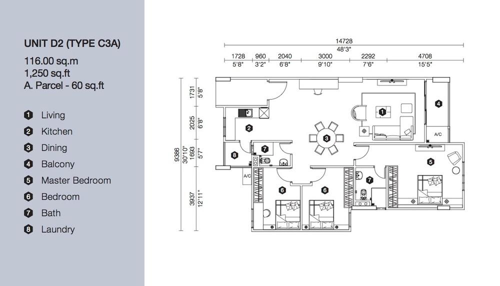 Artis 3 Block D - Type C3A Floor Plan