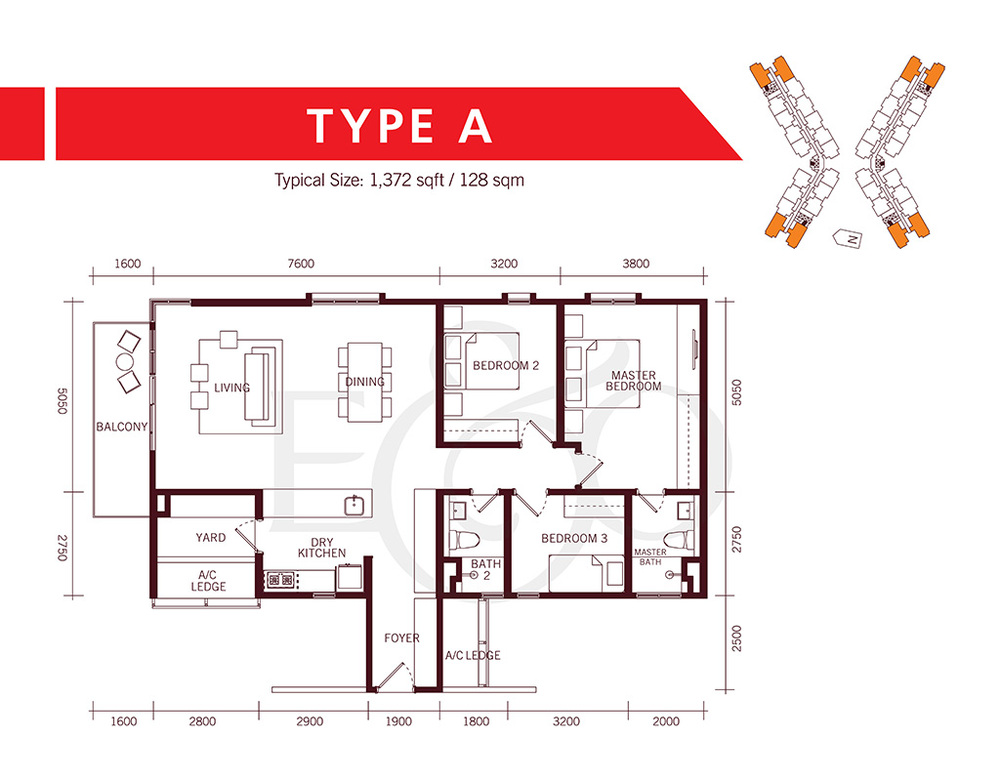 The Tamarind Type A Floor Plan