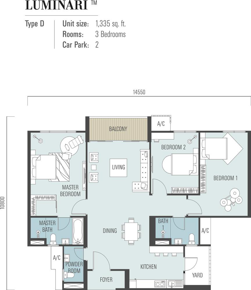 Luminari Type D Floor Plan