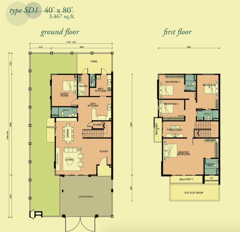 Canary Garden Clermont - Type SD1 Floor Plan